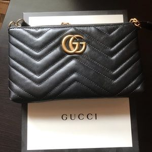 Gucci gg Marmont wallet on chain crossbody